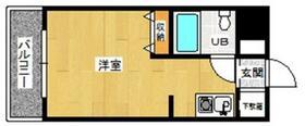 メゾン・ド・祇園・611号室の間取り