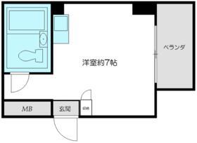 トップルーム新宿公園第2・1011号室の間取り