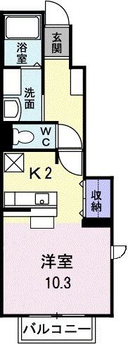 マニフィークヴィラ Part2・01010号室の間取り