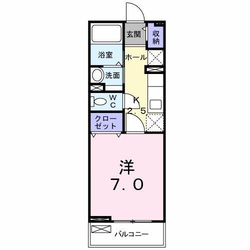 プラシードハウス・02020号室の間取り