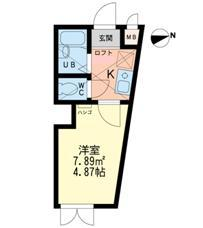 ウィズ・プレイス西新井本町 北・107号室の間取り