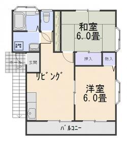 ガーデンハウス山勝・122号室の間取り