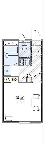 レオパレス横田レジデンスⅡ・105号室の間取り