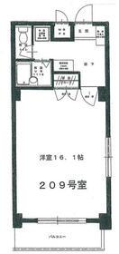 フォート金沢八景相川ビルⅡ・209号室の間取り