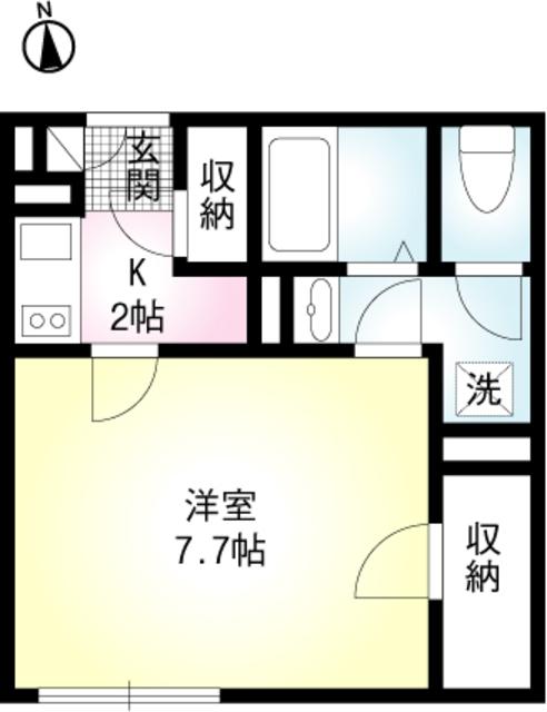 ミモザパレス平井・306号室の間取り