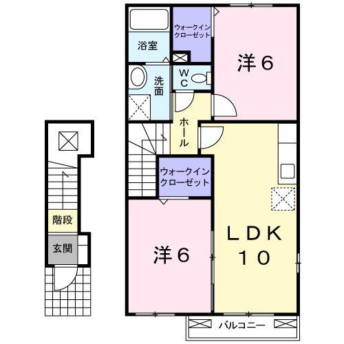 スワン KITAMURA A 02030号室の間取り