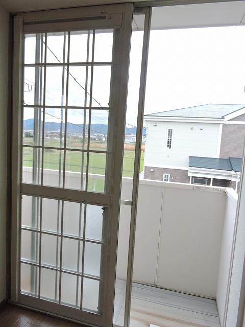 スカイハイツK A 02010号室のバルコニー