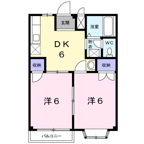 メゾンKUMAGAYA・02020号室の間取り