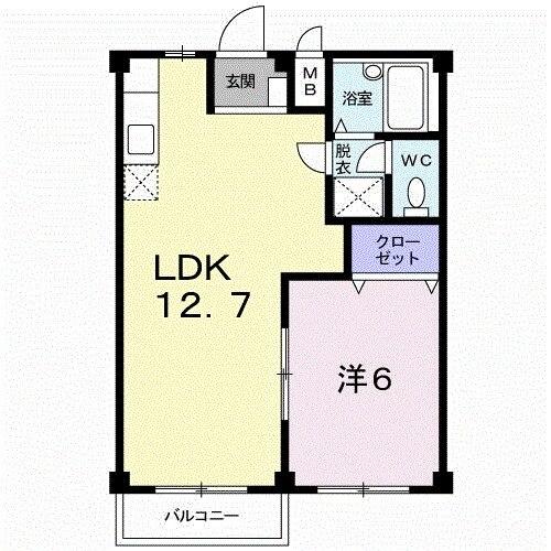 エルディム屋島 02050号室の間取り