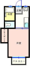 リヴ斉木・205号室の間取り