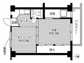 ビレッジハウス新開3号棟・0406号室の間取り