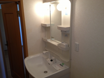 ハピネス村山C 02020号室の洗面所
