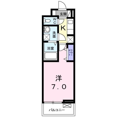ディアコート 宮脇 02020号室の間取り