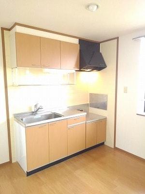 コーポリバーサイド・藤 A 02020号室のキッチン