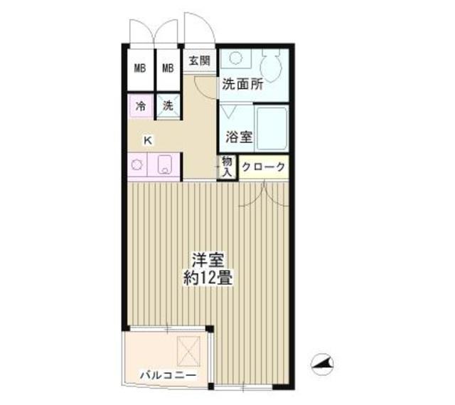 瑞穂平井マンション・402号室の間取り