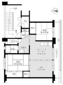 ビレッジハウス野間田1号棟・0403号室の間取り