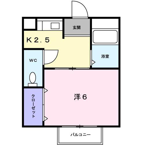 タウニ-21 02030号室の間取り