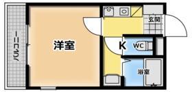 京都ハウジングコーポ西平山・302号室の間取り