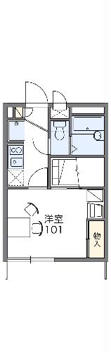 レオパレスH・Y・Ⅲ・106号室の間取り