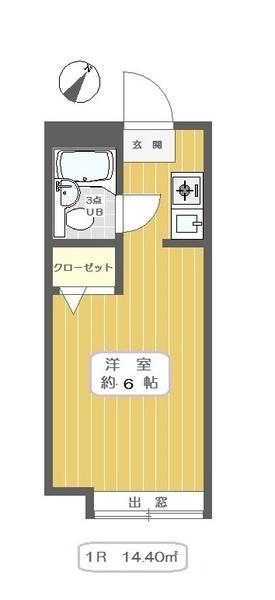 キャピタル中川・A203号室の間取り