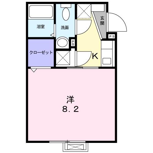 メゾン ミニヨン・02020号室の間取り
