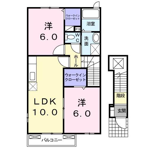 サニーハウス B・02020号室の間取り