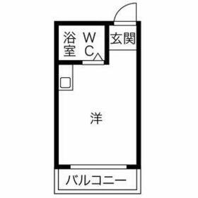 プレアール塚本Ⅶ・303号室の間取り
