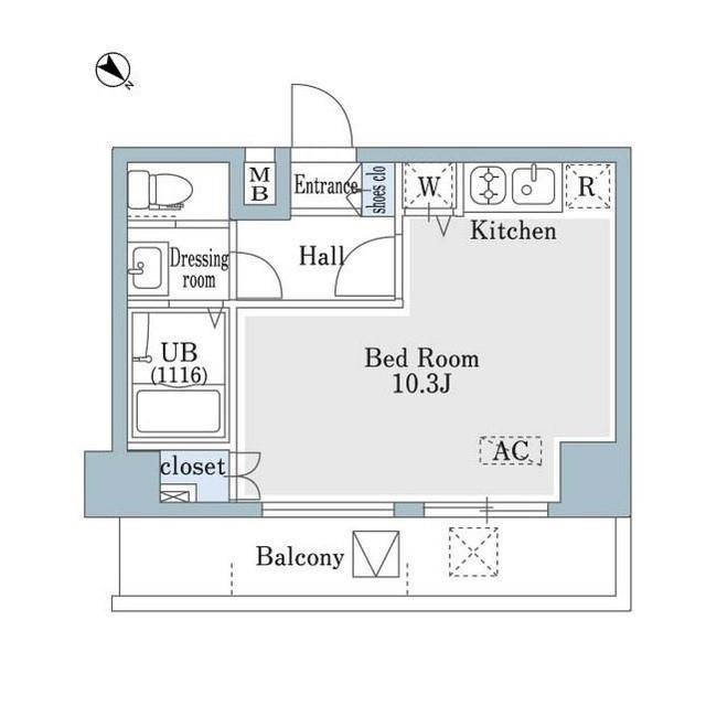 SHOWN HATSUDAI・0601号室の間取り
