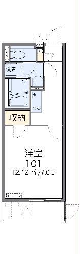 レオネクストリヴィエール武庫川・104号室の間取り