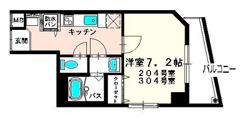 メゾン 上野屋・03040号室の間取り