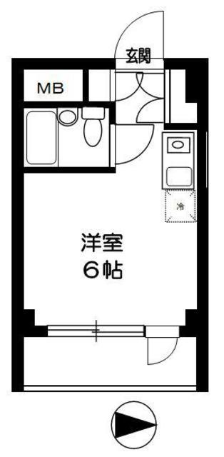 TOP東村山 B棟・102号室の間取り