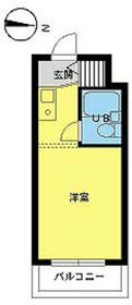 スカイコート下高井戸・313号室の間取り