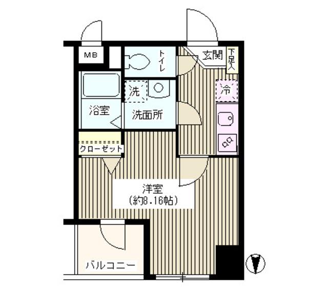 ナポレオーネKAITO・206号室の間取り