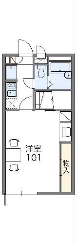 レオパレスAsama・203号室の間取り
