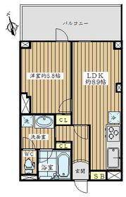 豊中サンライトマンション・501号室の間取り