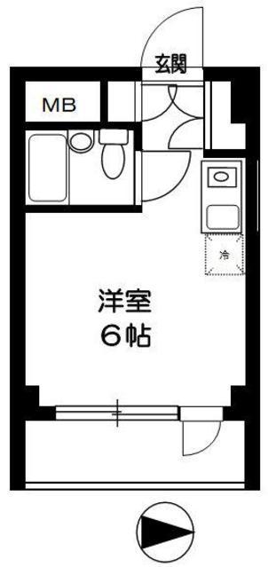 TOP東村山 B棟・402号室の間取り