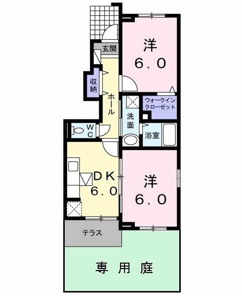 ラフレシール武蔵大和・01010号室の間取り