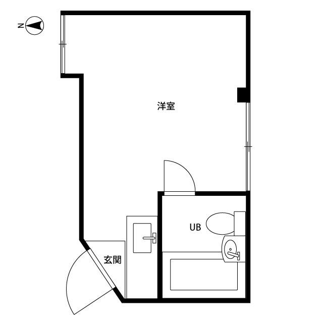 井荻パークハイツ 305号室の間取り