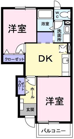 ピュア ミキ A・01030号室の間取り