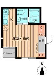 NERV西早稲田(ヌーヴ)・0104号室の間取り