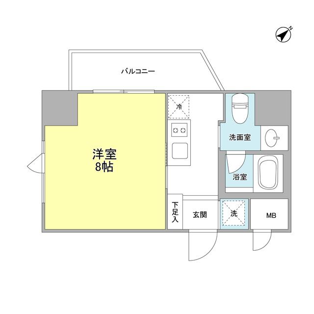 ベルフェリーク浅草橋・0603号室の間取り