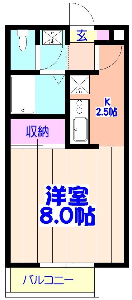 コスモ鎌ヶ谷 205号室の間取り