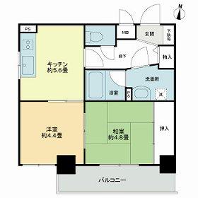 ライオンズマンション中村橋駅前・701号室の間取り