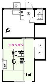 第1東信荘・205号室の間取り