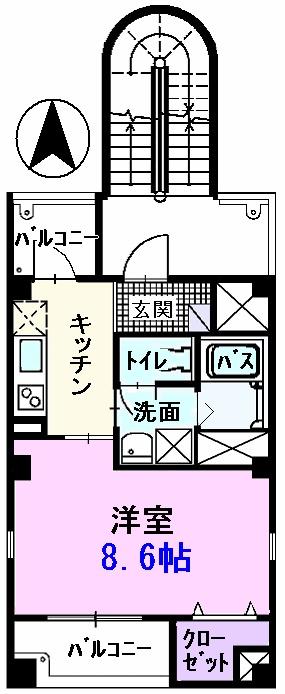 ステュディオ入江・03010号室の間取り