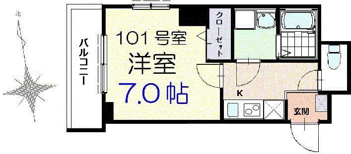 ミラージュ 錦糸町・01010号室の間取り