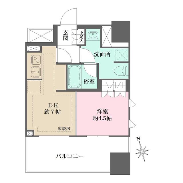 ザ・パークハウス上野・203号室の間取り