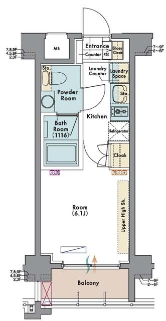 マスターズコート木場公園クレール・603号室の間取り