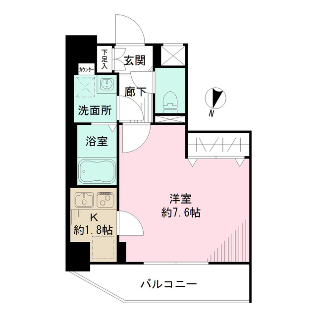 メイクスデザイン新宿落合・704号室の間取り