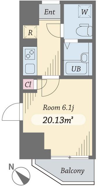 ダイヤモンドタワー西小山・0606号室の間取り